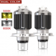H4 LED H6/BA20D Led Motorcycle Headlight Bulbs Lens Moto 6000LM Hi Lo Lamp Scooter Accessories Fog Light 6500K 12V