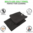 Golf Towel Waffle Pattern Cotton With Carabiner Cleaning Towels Microfiber Hook Cleans Clubs Balls Hands