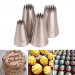 4Pcs/3Pcs Cake Decoration Set Kitchen Gadgets Cookies Supplies Multi Purpose 304 Stainless Steel Multi Tooth Pastry Nozzle Set