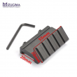 One side 45 Degree angle Offset 20mm Rail Mount for Weaver Picatinny Rail Caza Hugnting Accessories