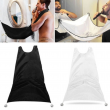 New Shaving Cloth Beard Bib Apron Facial Hair Trimmings Catcher Cape Sink Home Salon Tool Useful Apron Shaving Cloth with 2 Hook