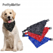 Pretty&Better Dog Bandanas Large Pet Scarf Pet Cotton Plaid WashableBow ties Collar Cat Dog Scarf Large Dog Accessories Kerchief