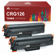 2 Multi-Pack Black Toner CRG-126 3483B001 For Canon 126 ImageClass LBP6230dw