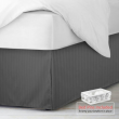"""Damask Stripe Bed Skirt Pleated Bed Skirt 14"""" Tailored Drop with Bed Skirt Pins"""