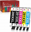 5 pack Ink Cartridge For Canon PGI-280XXL CLI-281XXL PIXMA TR7520 TS9120 TR8520