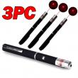 3PCS 1mW 532nm Red Laser Pointer Pen Visible Beam Light Lazer Pet Toy Teach Pen