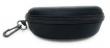 Hard Shell Sunglasses Protective Zipper Case with Belt Hook Clip Black