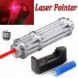Tactical Heavy Duty 200Miles 650nm Red Laser Pointer Pen Beam Light 18650 Laser