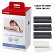 Canon KP-108IN Selphy 4x6 Color Ink Paper Set 108 Sheets with 3 Toners 3115B001