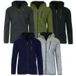 Men's Heavy Weight Sherpa Fleece Lined Hoodie Sweater Jacket - Full Zip - S-XXL