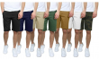 Mens 5-Pockets Stretch Cotton Chino Shorts Lounge Casual Work Flat-Front 30-40