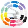 Lots Fastener Snap Pliers KAM Button Plastic Resin Press Stud Cloth Tool Kit
