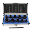 11pcs Damaged Lug Nut Lock Remover Twist Socket Set Screw Extractor Tool 9-19mm