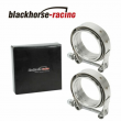 """2 X Universal 3"""" Inch Stainless Steel V-Band Turbo Downpipe Exhaust Clamp Vband"""
