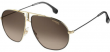 Carrera Bound Men's Black/Gold-Tone Aviator Sunglasses w/ Gradient Lens 02M2 HA