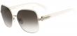 Salvatore Ferragamo Women's Ivory/Lt Gold Butterfly Sunglasses SF150S-721 Italy
