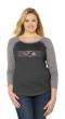 SOAG NFL Womens Curvy Triblend Long Sleeve Shirt With Bling Plus Sizes 1X-3X