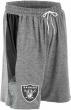 Zubaz NFL Football Mens Oakland Raiders Gray Space Dye Shorts