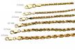 "14k Solid Yellow Gold Rope Chain Necklace Bracelet 1mm-10mm Men Women Sz 7""-30"""