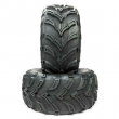2pcs Black ATV/UTV Tires 25x10-12 25x10x12 Rear 6PR P377 Rubber F