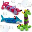 My Little Bath BudsFun AnimalBathtimeScrunchies Kids Shower Loofah Toy Sponge