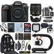Nikon D500 Digital SLR Camera 4K with 18-55mm VR Lens + 64GB Pro Video Kit