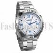 Men's Stainless Steel Band Roman Numeral Luminous Quartz Analog Wrist Watches