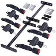 Universal Golf Cart Retractable 4 Seat Belts Mounting Bracket Kit Set Club Car