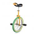 "18"" Wheel Uni-Cycle Chrome Bike Unicycle Cycling Yellow Green Balance Exercise"