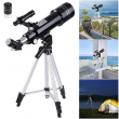 400/70mm Astronomical Refractor Telescope Refractive Eyepieces Tripod Space Star
