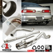 """Stainless Steel Catback Exhaust System 4"""" Muffler Tip for 94-01 Integra GS/LS/RS"""