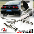 "Dual Muffler 4""Beveled Edge Tip Catback Exhaust for 00-05 Monte Carlo/Impala 3.8"