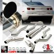 """Dual Muffler 4"""" Tip Catback Exhaust System for 10-15 Chevy Camaro 6.2 V8 SS/ZL1"""