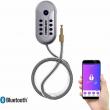 Turbolock TL113 Bluetooth Bike Lock w/Keypad App Steel Cable Lock Brushed Nickel