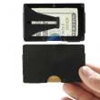 Ultra-Slim Wallet RFID Card Protection Money Holder Black Aluminum, Blue, Silver
