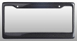Real 100% Carbon Fiber License Plate Frame Tag Cover Orignal 3K With Free Caps