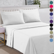Premium 1800 Count Bed Sheets Ultra Comfort Hotel Collection 6 Pcs Bedsheet Set