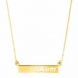 Eternity Gold 'Mom' Cutout Bar Necklace in 10K Gold