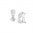 1/2 ct Diamond X' Hoop Earrings in Sterling Silver