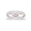 Breguet Reine De Naples Ring 18k White Gold with Morganite Diamonds