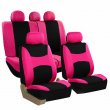 FH Group Auto Seat Covers For Car Truck SUV Van - Universal Protector Cover Pink
