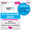 Net10 3-Month 5G/4G LTE Prepaid Plans + SIM Card Kit