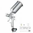 2.5 mm HVLP Spray Gun Auto Paint Gravity Feed w/ Gauge Metal Flake Primer Nozzle