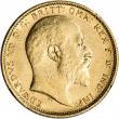 Australia Gold Sydney S Sovereign .2354 oz - Edward VII XF-AU - Random Date