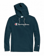 Champion Men's Hoodie Middleweight Script Logo Cotton Jersey Athletic Fit Kanga