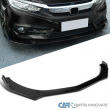 For Universal Ford Honda BMW Glossy Black PP Front Bumper Lip Spoiler 3PC