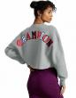 Champion Life Sweatshirt Crop Cut Off Womens Reverse Weave Crew Neck Old English