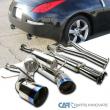 For 03-09 Nissan 350Z S/S Dual Titanium Burnt Tip Catback Exhaust Muffler System