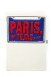 Olympia Le-Tan Womens Paris Texas Box Clutch Handbag Gray Blue Red