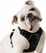 Rabbitgoo Dog Harness No-Pull Pet Control Adjustable Reflective Collar Black